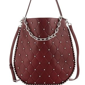 New Alexander Wang Studded Leather Hobo Handbag